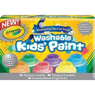 Crayola® Washable Bright Fingerpaint Tubes, 4/Pack