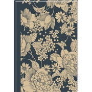 Staples® 2015 Weekly/Monthly Hard Cover Planner, December - January, Gray/Ivory Floral, 8 x 11