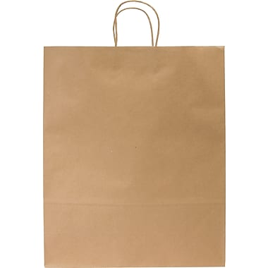 Kraft Paper Shopping Bags, Debonair, 250 pk