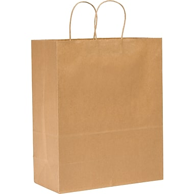 Kraft Paper Shopping Bags, Mart, 250 pk