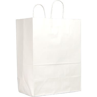 White Paper Shopping Bags, Mart, 250 pk