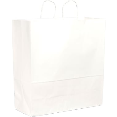 White Paper Shopping Bags, Cargo, 250 pk