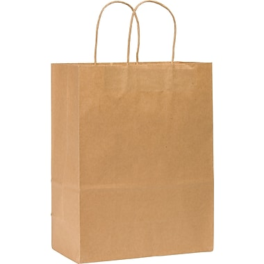 Kraft Paper Shopping Bags, Missy, 250 pk