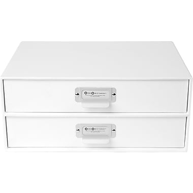 Bigso Birger 2 Drawer Chest, White