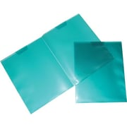 JAM Paper® 9 1/4 x 11 1/2 Plastic Regular Weight Full Pocket Folder, Teal,6/Pack