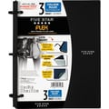Five Star Flex® Notebook, 3-Subject, College Ruled, Assorted, 8-1/2in. x 11in.