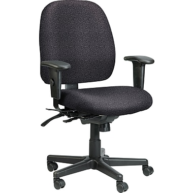 Raynor Eurotech Fabric 4 x 4 Multi-function Task Chair, Carbon Abstract