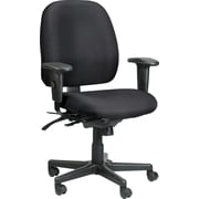 Raynor Eurotech Fabric Computer and Desk Office Chair, Basis Onyx, Adjustable Arm (49802A BAS-ONYX)