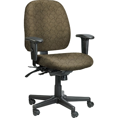 Raynor Eurotech Fabric 4 x 4 Multi-function Task Chair, Ring Obsidian