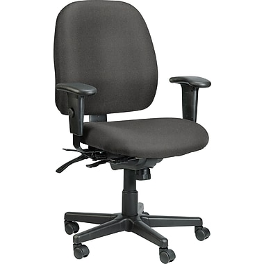 Raynor Eurotech Fabric 4 x 4 Multi-function Task Chair, Basis Fog