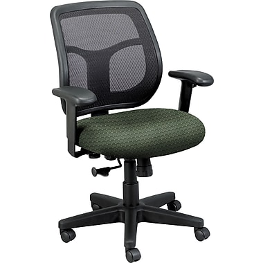 Eurotech Seating MT9400 CIRQ-GRS Apollo Fabric Mid-Back Task Chair with Adjustable Arms, Cirque Summer Grass