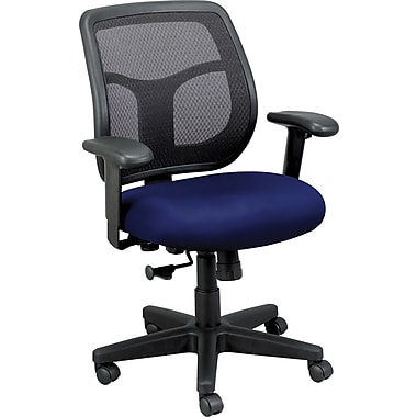 Raynor Eurotech Apollo Vinyl/Mesh Task Chair, Persuasion Blueberry