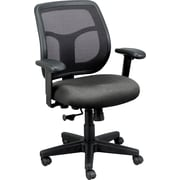 Raynor Eurotech Fabric Computer and Desk Office Chair, Basis Fog, Adjustable Arm (MT9400 BAS-FOG)