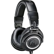 Audio-Technica Professional Studio Monitor Headphones with Coiled Cable, Black