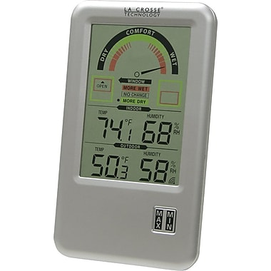 La Crosse Technology WS-9170U-IT-CBP Digital Indoor Comfort Station with temperature & humidity