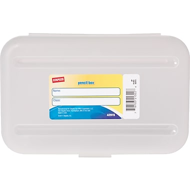 Staples Pencil Box, Translucent Clear