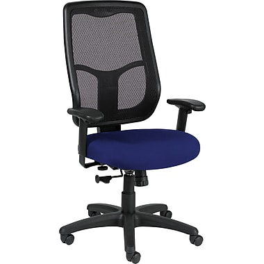 Raynor Eurotech Apollo Vinyl Mid-back Multi-Function Task Chair, Persuasion Blueberry