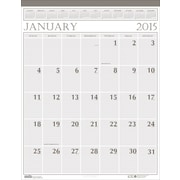 House of Doolittle™ 2015 Monthly, January-December, Large Wall Calendar, Brown/Beige, 8 1/2 x 11
