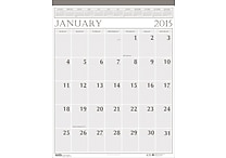 "House of Doolittle™ 2015 Monthly, January-December, Large Wall Calendar, Brown/Beige, 20"" x 26"""