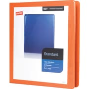 "1"" Staples® Standard View Binder with D-Rings, Bright Orange"