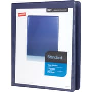 "1/2"" Staples® Standard View Binder with D-Rings, Blue"