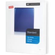 "1/2"" Staples® Standard View Binder with D-Rings, White"