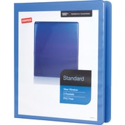 "1/2"" Staples® Standard View Binder with D-Rings, Periwinkle"