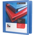 1-1/2in. Staples® Heavy-Duty View Binder with D-Rings, Periwinkle