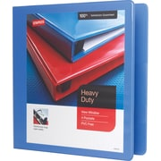 "1-1/2"" Staples® Heavy-Duty View Binder with D-Rings, Periwinkle"