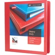 """1-1/2"""" Staples® Heavy-Duty View Binder with D-Rings, Red"""