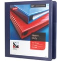 1-1/2in. Staples® Heavy-Duty View Binder with D-Rings, Blue