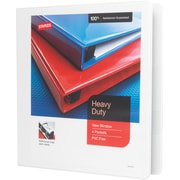 Staples Heavy-Duty 1.5-Inch Slant D-Ring View Binder, White (24677-US)