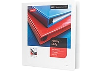 1-1/2' Staples® Heavy-Duty View Binder with D-Rings, White