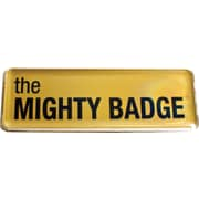 The Mighty Badge Name Badge Starter Kit for Inkjet Printers, Gold, 1 x 3 Badges, 10/Pack