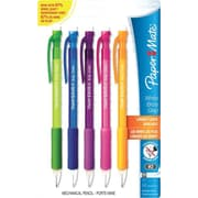 Paper Mate Write Bros Grip Mechanical Pencils, 0.5mm, Assorted Barrel Colors, 5/Pack