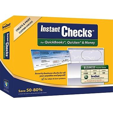 Instant Checks™ for Quickooks®, Quicken® & Money - Form #1000 Business Voucher Security Checks - Blue - Prestige - 500pk