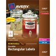 Avery® Removable Durable Rectangular White Labels 22827, 3-1/2in.x4-3/4in.