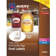 Avery® Print-to-the-Edge Permanent Glossy White Oval Labels 22964, 2in.x3-1/3in.