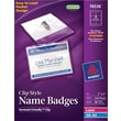 "Avery® Garment Friendly™ Clip Style White Name Badges 74536, 3"" x 4"""