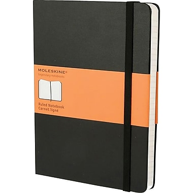 Moleskine Classic Colored Notebook, Extra Large, Ruled, Hard Cover, Black, 7.5