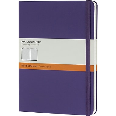 Moleskine Classic Colored Notebook, Extra Large, Ruled, Hard Cover, Brilliant Violet, 7.5