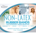 Alliance Non-Latex Rubber Bands with Antimicrobial Product Protection, #54 (Assorted Sizes) Cyan Blue, ¼ lb. Box