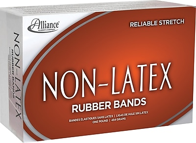"Alliance Orange Non-Latex Rubber Bands , #19 (3 1/2"" x 1/16""), 1 lb. Box ALL37196"