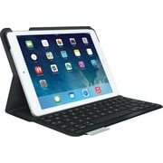 Logitech 920-006909 Ultrathin Bluetooth Keyboard Folio for iPad Air Carbon Black