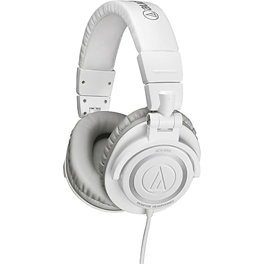 Audio-Technica Professional Studio Monitor Headphones with Coiled Cable, White