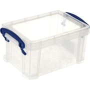 Really Useful Boxes® 0.7L Storage Box, Transparent, Clear