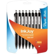 Paper Mate Inkjoy 300RT Retractable Ballpoint Pens, Medium Point 1.0mm, Black, 8/Pack