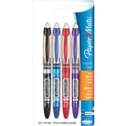 Paper Mate Liquid Flair Pens, Fine Point 0.7mm, Assorted, 4/Pack