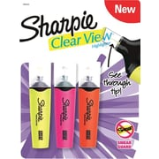 Sharpie Clear View Highlighters, Chisel Tip, Assorted, 3/Pack