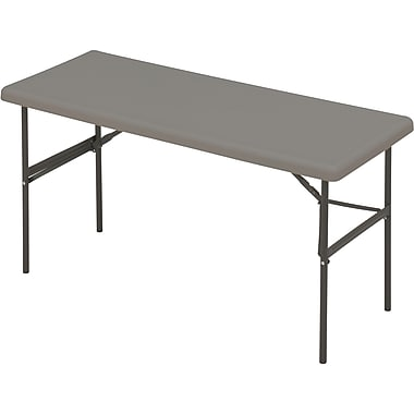 IndestrucTable TOO Folding Table,1200 Series - Charcoal - 24